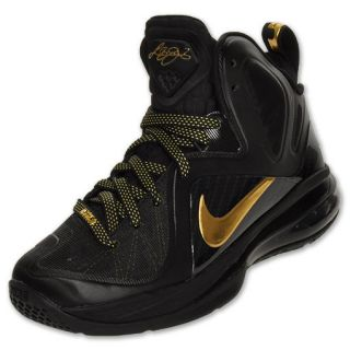 Nike Lebron 9 Elite Kids Basketball Shoes Black Metallic Gold 518215