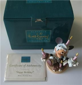 Disney WDCC Happy Birthday Mickey Mouse 70th Birthday Party Statue