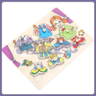 Kids Learning Puzzle Girl Winter Clothes Changing Jigsaw Puzzle