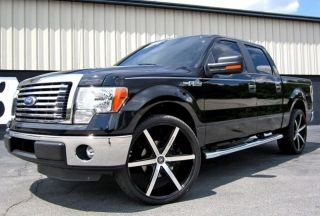 24 INCH WHEELS TIRES RIMS LEXANI R SIX 6X135 BLACK FORD F150 2004