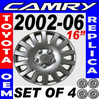 2006 TOYOTA CAMRY 16 Wheel Hub Caps Silver (Fits 2009 Toyota Camry