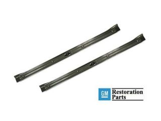 Camaro Door Sill Plates Pair with Rivets 67 68 69 (Fits 1968 Camaro)