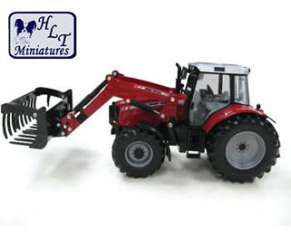 BRITAINS MASSEY FERGUSON 6480 TRACTOR FRONT LOADER 132 SCALE FARM