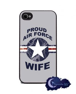 Proud Air Force Wife   Military iPhone 4/4s Slim Case Cell Phone Cover