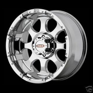 17 Inch Moto Metal MO955 Chrome WHEELS RIMS 8 lug 8x6.5 2500 3500