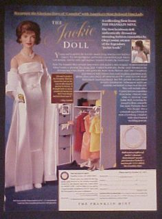 jacqueline kennedy franklin mint jackie girls doll ad  8 07
