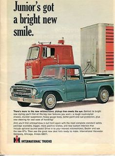 1967 International Harvester IH Tractor Trailer & Pickup Truck Ad