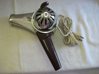 Chrome & Bakelite Knapp Monarch VTG Hair Dryer Rotating Handle 11 503