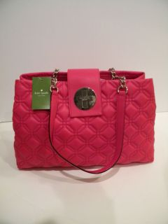 NWT KATE SPADE ELENA ASTOR COURT SCARLET RED QUILTED LEATHER PURSE