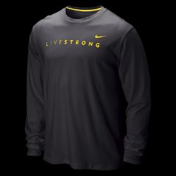 LIVESTRONG Mens Cotton Long Sleeve T Shirt