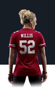 Patrick Willis Womens Football Home Game Jersey 469915_690_B_BODY