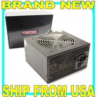 450 Watt Quiet 120mm Fan ATX Computer PC Power Supply Intel 20 24 Pin