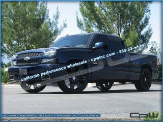 Suburban Tahoe fitment Concept 24 Wheels Tires Marcellino Gloss Black