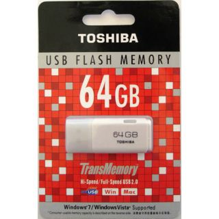 Toshiba 64GB 64 GB USB 2 0 Flash Memory Stick Pen Disk TransMemory