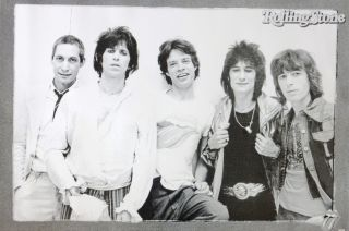 ROLLING STONES 70s GROUP SHOT POSTER FROM ASIA   Rock Music