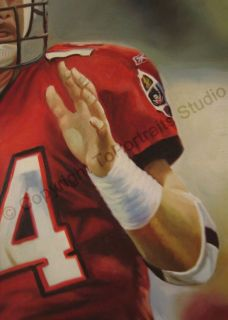 Brad Johnson Tampa Bay Buccaneers Original NFL Oil Painting on Canvas