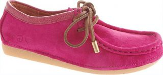 Lucky Brand Charlie Fuschia Hot Pink Suede Leather Moccasin Wallabee