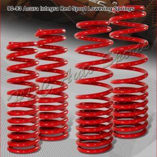 1990 1993 Acura Integra 2 4D Suspension Red lowering Lower Springs