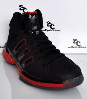 Adidas Pro Model 0 Zero Lux 2012 Mens Basketball Shoes Black Red New