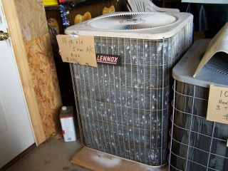 LENNOX 5 TON USED AIR CONDITIONER CONDENSING UNIT R 22 FREON 10 YEARS
