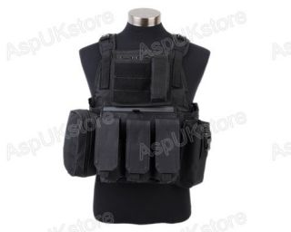 Airsoft Tactical USMC MOLLE Assault Vest Black