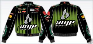 Dale Earnhardt Jr Amp Energy Black Green NASCAR Jacket Adult
