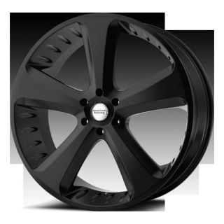22 Wheels Rims American Racing Hot Rod Circuit Satin Black Traverse