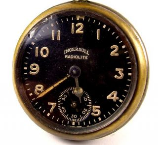 Ingersoll 1919 Radiolite Gun Metal Case Pocket Dollar Watch