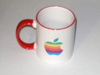 Apple Computer Apple Rainbow Logo Merry Christmas Mug New