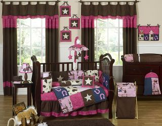 HORSE WESTERN COWGIRL BABY BEDDING CRIB SET FOR NEWBORN GIRL SWEET