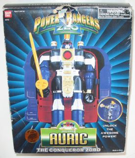 MMPR Power Rangers Zeo AURIC the Conquerer Bandai near COMPLETE w/ box