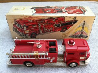 Trucks 1970 1971 Hess Red Fire Truck Box 4 Inserts Never Used