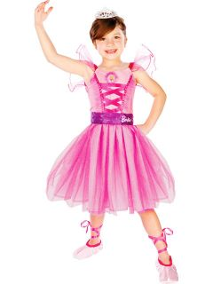 Barbie Ballerina Tutu Costume Dress Up Girls Toys Pink Tiara Ballet