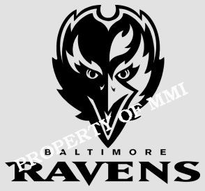 Baltimore Ravens Style 5 Vinyl Decal Window Car Wall Truck Man Cave