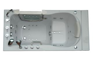 Ellas Deluxe Massage Walk in Bathtub Tub Jacuzzi Hydrotherapy Hydro