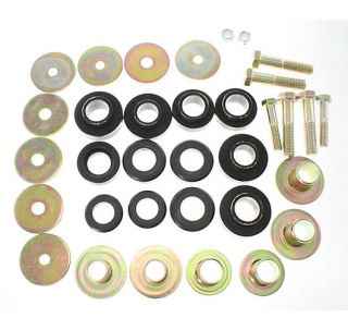 Auto Body Mount Kit Bushings Washers Polyurethane New