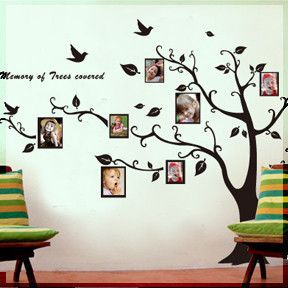 Photo Frame Tree Nature Vinyl Wall Decal Art Sticker Q5