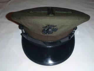 USMC Marine Corp Barracks Cover Officer Hat Size 7