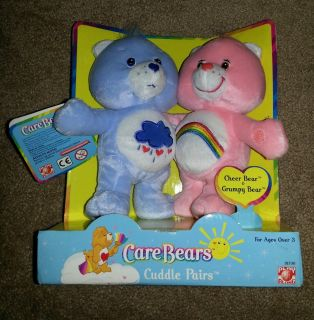 Care Bear 2002 Cuddle Bears Cheer Bear and Grumpy Bear