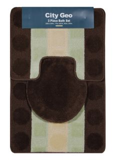 Piece Bathroom Shower Ensemble Bath Rug Mat Contour Set