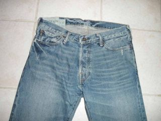 Abercrombie & Fitch Baxter Slim Boot Cut Jeans 31 x 34 Low Rise Light
