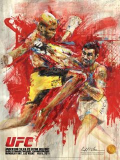 Anderson Silva vs Vitor Belfort on Site Fight Poster