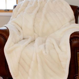 Oversize Soft Mink Faux Fur Throw Blanket New Oversized White