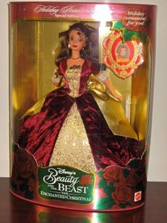 Disneys Holiday Princess Belle Beauty and The Beast Barbie Doll 1997