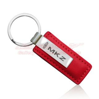 Lincoln MKZ Red Leather Key Chain Key Ring Free Gift