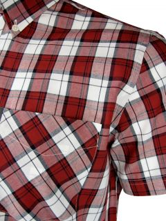 Ben Sherman Check Shirt King Plus Size Red