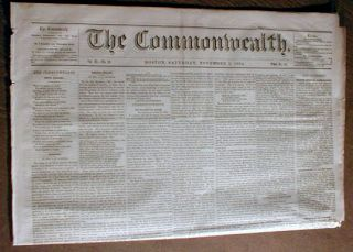 RARE Original 1864 Abolitionist Civil War Newspaper Maryland Abolishes