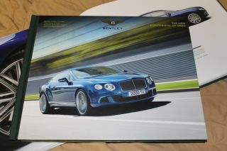 2013 Bentley Continental GT SPEED hardcover brochure Prospekt