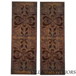 Uttermost Alexia Antiqued Rust Wall Art Panels Set of 2