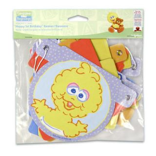 Sesame Street Elmo Big Birds Happy 1st Birthday Party Banner